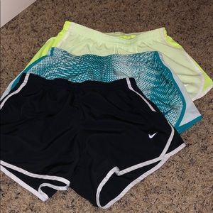 3 pack of nike girls shorts